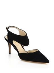 Nicholas Kirkwood Leda Suede Slingback Pumps Electric Blue Black
