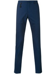 Incotex Slim Fit Tailored Trousers Men Wool 52 Blue