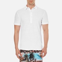 Orlebar Brown Men's Sebastian Towelling Polo Shirt White