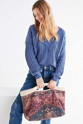 Urban Outfitters Chenille Tote Bag Purple