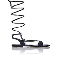 Miu Miu Women's Lace Up Gladiator Sandals Navy