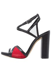 Bruno Premi High Heeled Sandals Nero Bianco Rosso Black