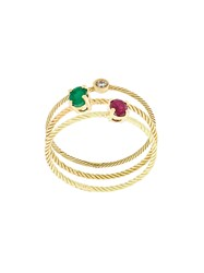 Wouters And Hendrix Gold Stone Embellished Set Of Rings Metallic