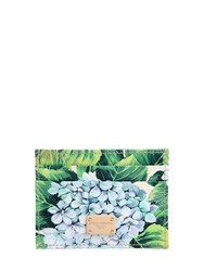 Dolce And Gabbana Hydrangea Print Leather Card Holder