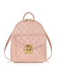 Love Moschino Heart Quilted Eco Leather Small Backpack Pink
