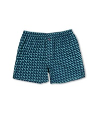 Tommy Bahama Big Tall Printed Island Washed Cotton Boxer Dark Sea Men's Underwear Navy