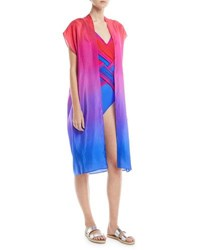 Gottex Radiance Belted Pareo Silk Woven Coverup Multi