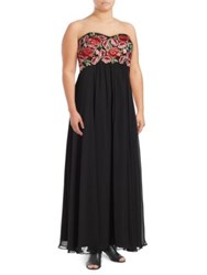 Decode 1.8 Plus Embroidered Floral Gown
