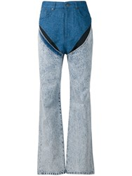 Y Project Straight Leg Jeans Blue