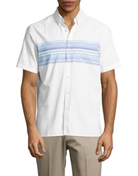 Black Brown Striped Short Sleeve Sportshirt Lemonade