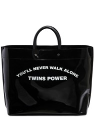 Dsquared Medium Twins Power Pvc Tote Back Black
