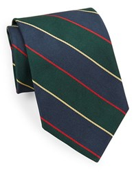 Brooks Brothers Classic Wide Stripe Tie Green