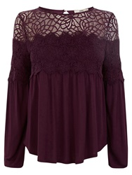 Oasis The Grace Top Burgundy