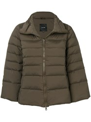 Duvetica Short Puffer Jacket Green