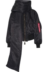 Balenciaga Swing Shell Bomber Jacket Black