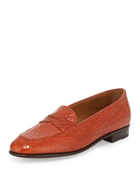 Gravati Crocodile Penny Loafer Orange Org