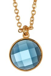 Melinda Maria Hunter London Topaz Pendant Necklace Metallic