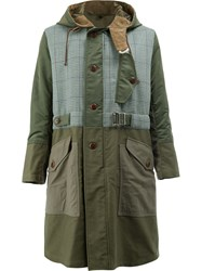 Junya Watanabe Comme Des Garcons Man Country Style Parka Cotton Leather Nylon Wool M Green