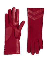 Isotoner Stretch Tech Gloves Really Red