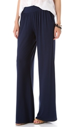 Three Dots Viscose Lycra Relaxed Pants Night Iris