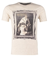 Teddy Smith Couple Print Tshirt Beige Chine Mottled Beige