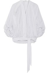 Chalayan Striped Cotton Poplin Blouse White
