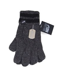 William Rast Cable Knit Gloves Charcoal