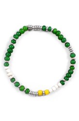 George Frost Men's Chill Morse Bracelet Green White Yellow