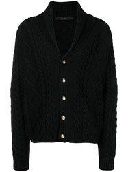 Billionaire Cable Knit Cardigan Black