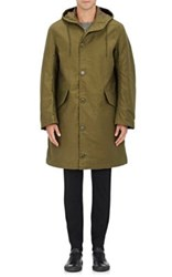 Nlst Men's Cotton Hooded Parka Dark Green