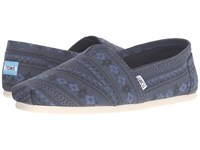 Toms Seasonal Classics Navy Blanket Stripe Print Men's Slip On Shoes