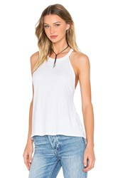 Michael Lauren Cactus High Neck Tank White