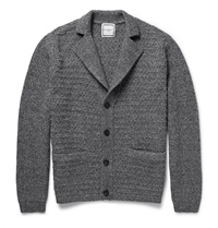 Wooyoungmi Melange Wool Blend Cardigan Gray