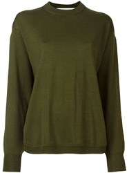 Givenchy Slit Sleeve Sweater Green