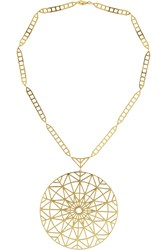 Arme De L'amour Gold Plated Medallion Necklace Metallic
