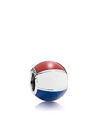 Pandora Design Pandora Charm Sterling Silver And Enamel Beach Ball Moments Collection Silver Red White Blue