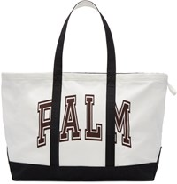 Palm Angels White Canvas Tote