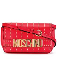 Moschino Studded Crossbody Bag Red