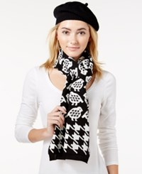 Charter Club Partridge Houndstooth 2 Pc. Scarf And Hat Gift Set Only At Macy's Black White