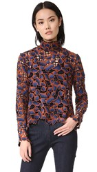 Saloni Mia Top Navy Orange