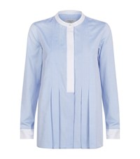 Max Mara Weekend Collarless Tunic Shirt Female Blue