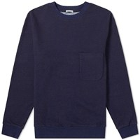 Blue Blue Japan Stripe Crew Sweat Blue