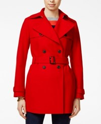 Tommy Hilfiger Belted Trench Coat Racing Red