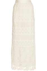 Miguelina Asher Crocheted Lace Maxi Skirt
