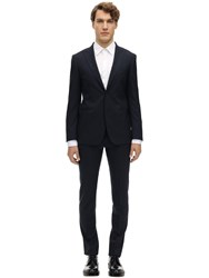 Tonello Single Breasted Wool Houndstooth Suit Navy
