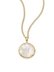 Ippolita Lollipop Mother Of Pearl Clear Quartz And 18K Yellow Gold Letter 'H' Charm Mother Of Pearl