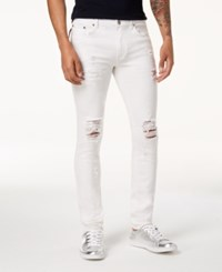 Reason Slim Fit White Ripped Jeans