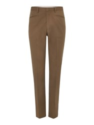 Chester Barrie Men's Drill Trousers Green