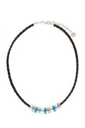 The Sak Braided Cord Charm Necklace Blue