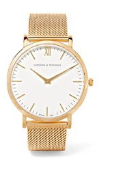 Larsson And Jennings Lugano Gold Plated Watch One Size